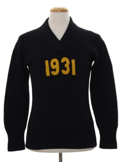 1930's Mens Cheerleader Sweater