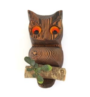 1970's Home Decor - Owl Plaque