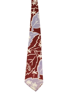 1940's Mens Hawaiian Wide Swing Necktie