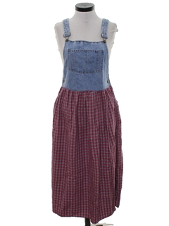 1980's Womens Denim Jumper Dress