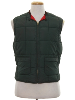1960's Mens Reversible Ski Vest Jacket