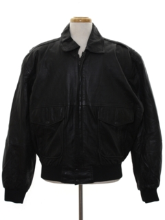 1990's Mens Bomber Leather Flight Jacket
