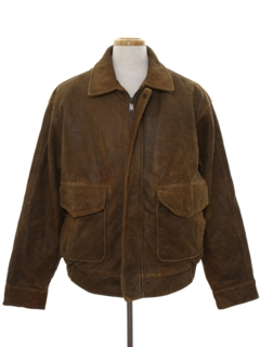 1990's Mens Suede Leather Jacket