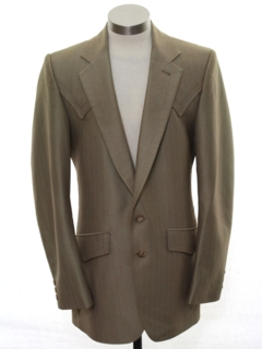 1980's Mens Western Disco Blazer Sport Coat Jacket