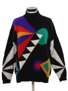 1970's Womens Totally 80s Sweater