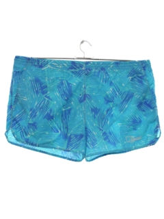 1980's Mens Totally 80s Swim Sport Shorts