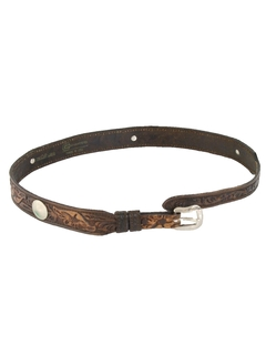 1980's Womens Accessories - Western Leather Belt