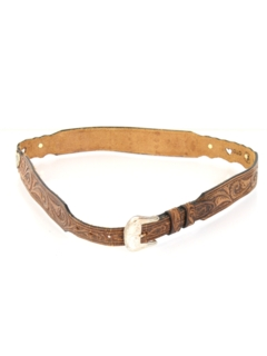 1980's Womens Accessories - Totally 80s Western Leather Belt