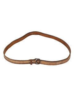 1970's Unisex Accessories - Leather Hippie Belt