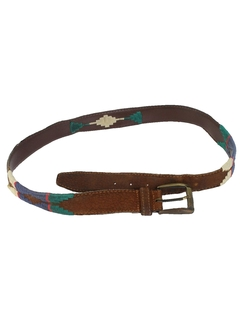 1990's Mens Accessories - Wicked 90s Western Leather Belt