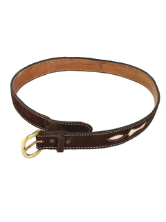 1990's Mens Accessories - Western Suede Leather Belt