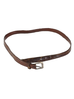 1980's Mens Accessories - Alligator Leather Belt