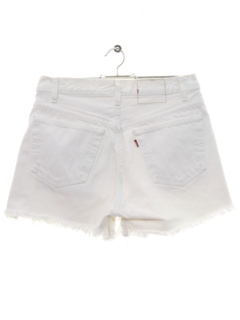 1980's Womens Levis Cut Off Denim Shorts