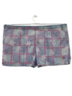 1980's Mens Totally 80s Swim Shorts