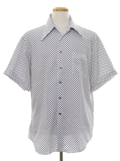 1970's Mens Mod Polka Dot Shirt