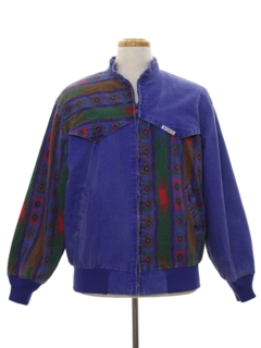 1980's Unisex Totally 80s Color Block Jacket