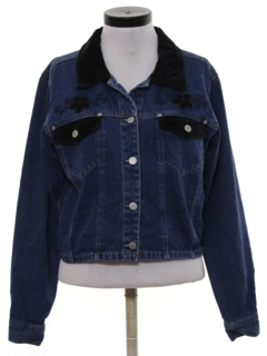 1980's Womens Wicked 90s Denim Jacket