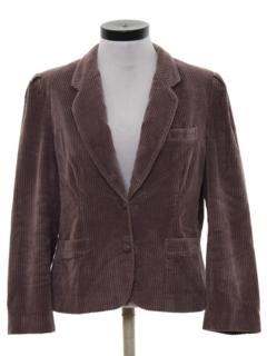 1980's Womens Corduroy Boyfriend Style Blazer Jacket