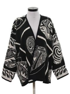 1990's Womens Wicked 90s Op Art Style Jacket