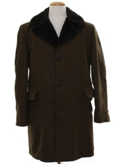 1960's Mens Mod Wool Car Coat Jacket