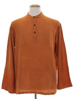 1970's Mens Mod Hippie Shirt