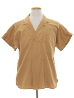 1980's Mens Mod Hippie Style Sport Shirt
