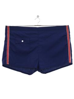 1970's Mens Mod Swim Shorts