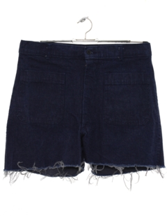 1970's Womens High Waisted Cut Off Denim Shorts