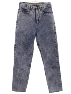 1990's Womens High Waisted Acid Washed Denim Jeans Pants