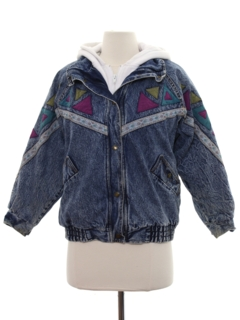 1990's Womens Wicked 90s Acid Washed Denim Jacket