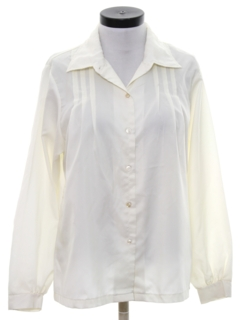 1980's Womens Pleated Front Shirt