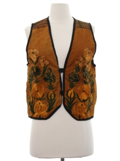 1990's Womens Embroidered Hippie Vest