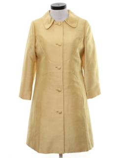 1960's Womens Shantung Silk Dress & Jacket