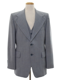 1970's Mens Disco Blazer Sport Coat Jacket with Matching Vest
