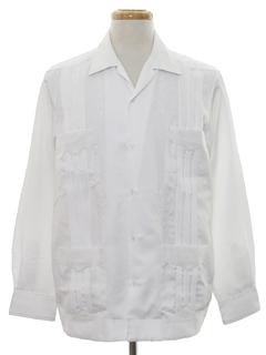 1990's Mens Western Guayabera Shirt