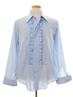 1980's Mens Tuxedo Shirt