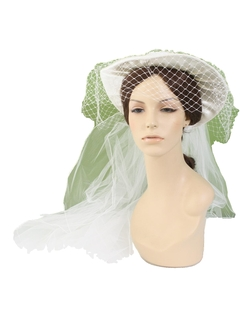 1980's Womens Accessories - Wedding Hat Veil