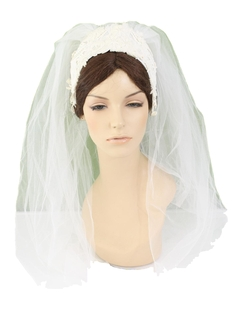 1960's Womens Accessories - Wedding Hat Veil