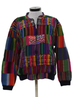 1980's Womens Guatemalan Hippie Jacket