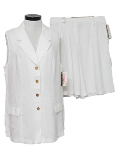 1980's Womens Skort Suit