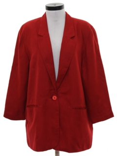1980's Womens Blazer Sport Coat Jacket