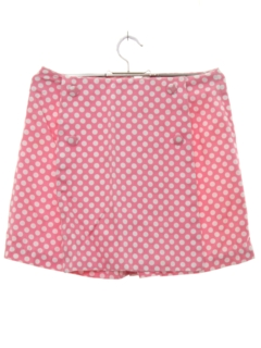 1960's Womens Mod Mini Skort Shorts