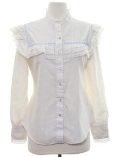 1970's Womens Western Prairie Style Shirt