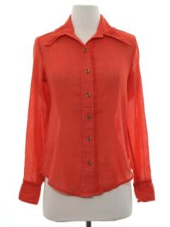 1970's Womens Mod Shirt