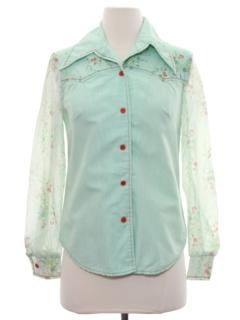 1970's Womens/Girls Western Style Shirt
