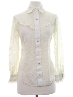 1980's Womens/Girls Western Shirt