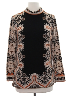 1970's Womens Designer Mod Hippie Shirt