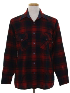 1970's Mens Mod Flannel Shirt