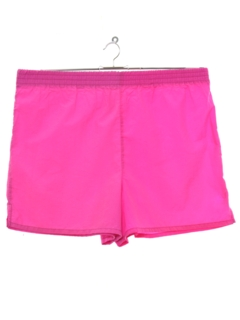 1980's Mens Totally 80s Neon Sport Shorts