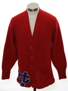 1960's Mens/Boys Cardigan Letter Sweater